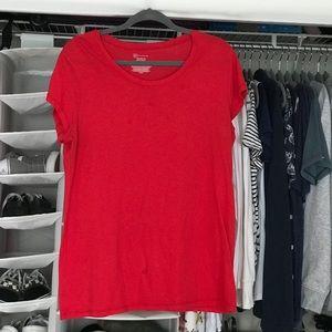 Plain red tee shirt